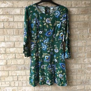 NWT Old Navy Green Floral Print Dress Size Light 4